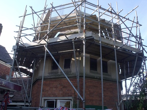 Bletchley Park Post Office - scaffolding