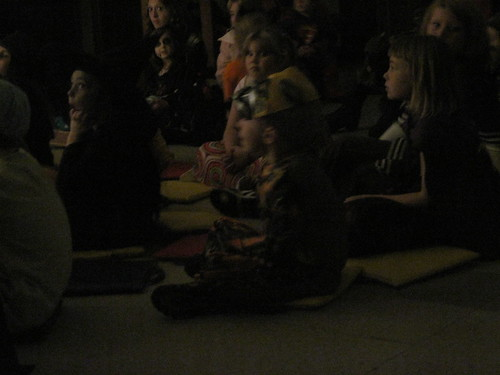 Children Listen To Spooky Story