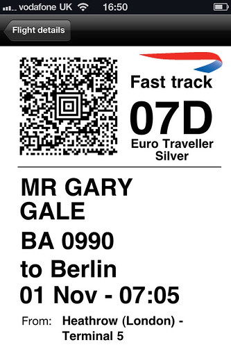 BA Mobile Boarding Pass