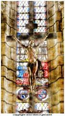 Do feel my Faith (Gislaadt Art - OFF 2 days) Tags: france color church cross faith religion jesus foi eglise croix aveyron vitraux