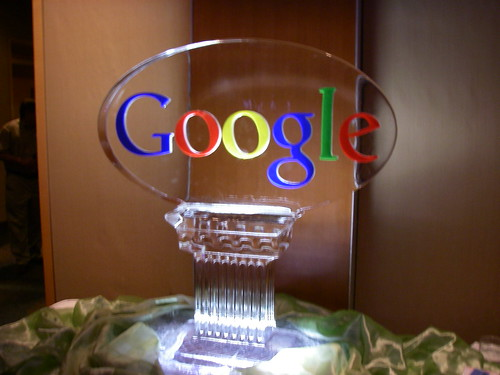 Google Ice Scuplture