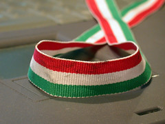Stained Italian colored ribbon