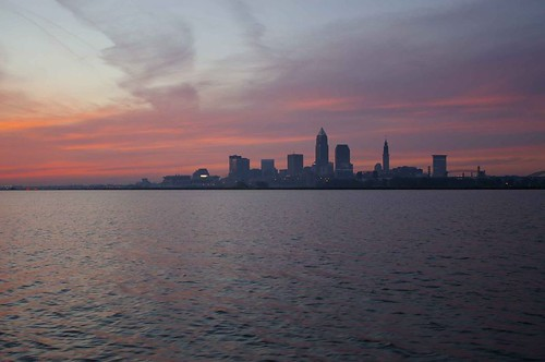 Sunrise over Cleveland
