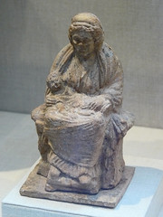 Terracotta statuette of an old nu