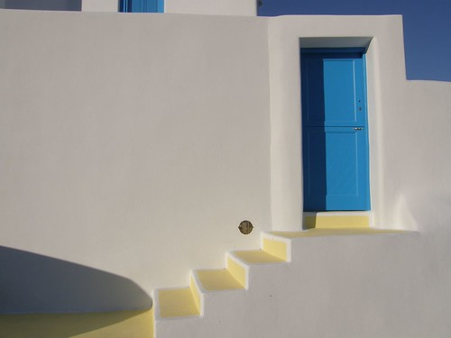 Blue Door - White Wall