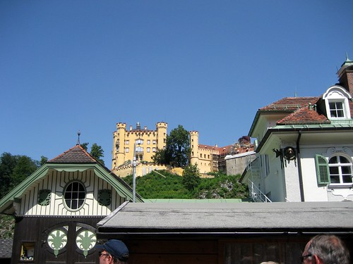 Looking up at Hohenschwangau