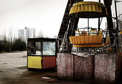 chernobyl playland (NiccollsDP) Tags: abandoned playground children dead ruin radiation nuclear ukraine disaster ferriswheel ghosttown radioactive powerplant deserted reactor sovietunion ussr wasteland catastrophe fallout chernobyl contamination contaminated deadcity uninhabitable pripyat paulniccolls
