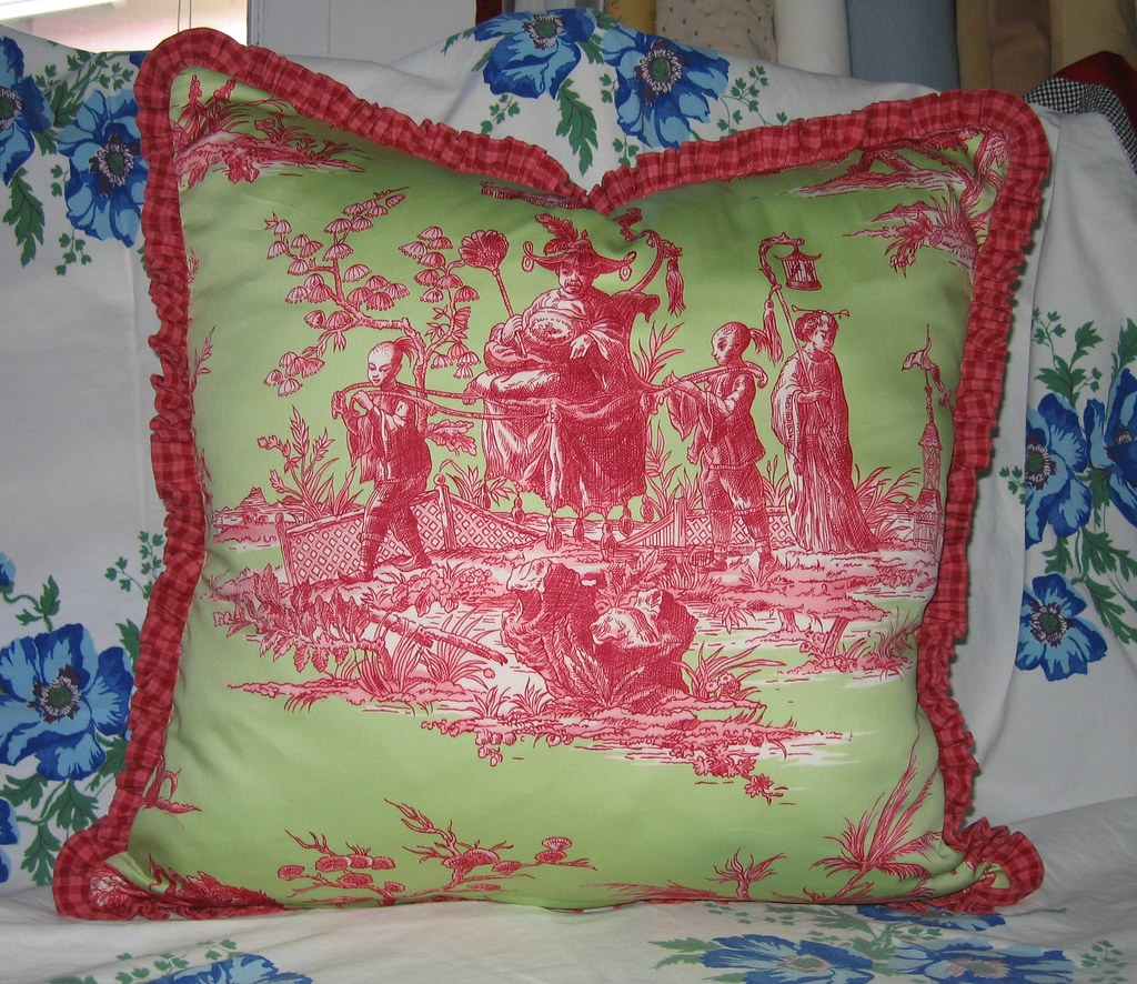 Back of vintage pillow