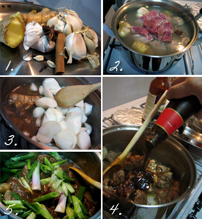 Homecooked Ngao Lam/Braised Beef: Steps
