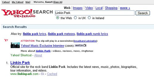 Old-style search results in the UK
