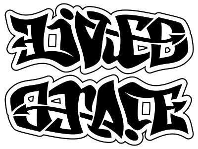 graffiti font tattoos. design in a graffiti font.