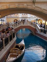 In interiorul hotelului Venetian
