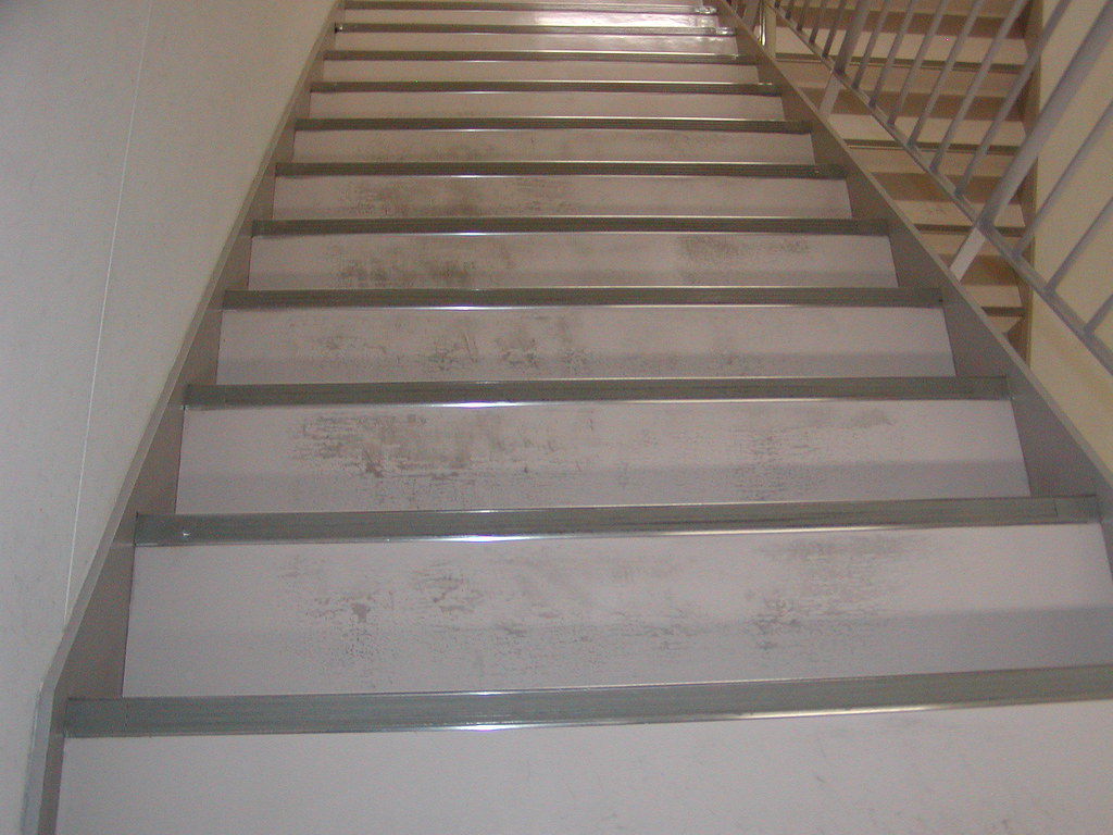 Hospital stairwell before application