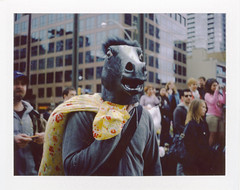 .. (Js) Tags: portrait horse toronto polaroid spring fight fuji mask may pillow pillowfight 2010 fp100c epsonv700 yongeeglintonsquare landcamera250 newspacemind