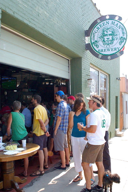 Local soccer fans celebrate the U.S. win over Algeria at Dirty Jacks