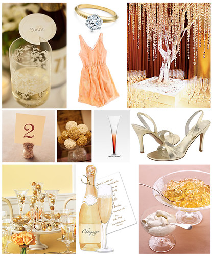 Champagne Themed Engagement Party