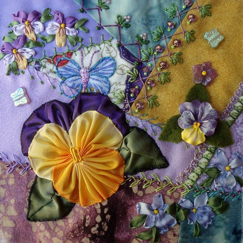 Pansy Block for Kerry by Lisa B