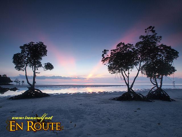Sunrise at Microtel Palawan Beach