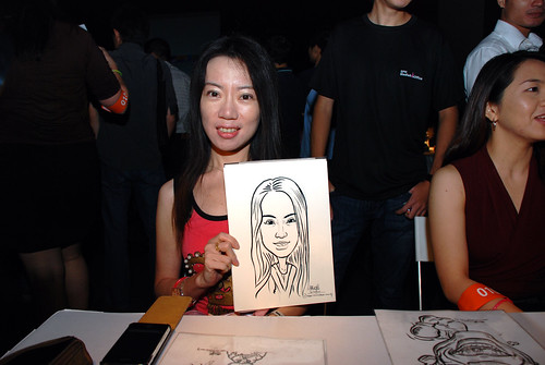 caricature live sketching for SDN First Anniversary Bash - 22