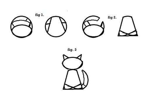 kitty cake template