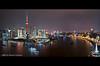 Shanghai :: Pudong & The Bund (DanielKHC) Tags: china panorama bar night digital river dark boats 1 high nikon cityscape view shanghai dynamic district explore hour hyatt 上海 pudong range financial bund dri hdr blending huangpu orientalpearltower d300 东方明珠塔 lujiazui 浦东 danielkhc tokina1116mmf28