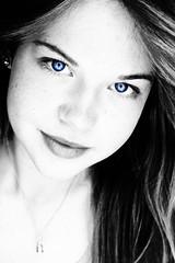 (rosaliewillnow) Tags: portrait blackandwhite bw girl eyes women sw augen mdchen schwarzweis