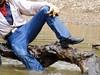 41 WS Shiny wet & clinging Wrangs & leather boots (Wrangswet) Tags: swimming wranglers cowboyboots swimminginclothes riverhiking swimmingfullyclothed guysinwetjeans wetladz wetwranglers wetcowboy wetcowboyboots wetwranglerjeans meninwetjeans swimminginboots rivecanal