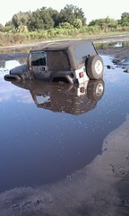 My jeep in a bog (Shadow Bromide) Tags: water soft jeep mud stuck offroad 4x4 top crap swamp angry laugh oops filth bog pissed wrangler rubicon allterrain