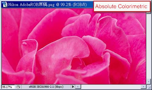 convert color space(Absolute Colorimetric)