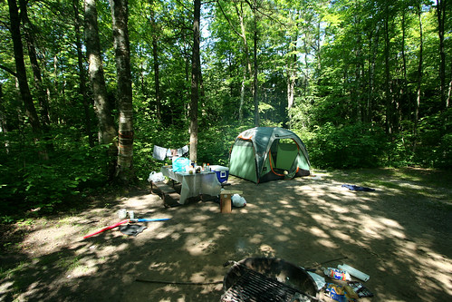 The campsite, wide angle