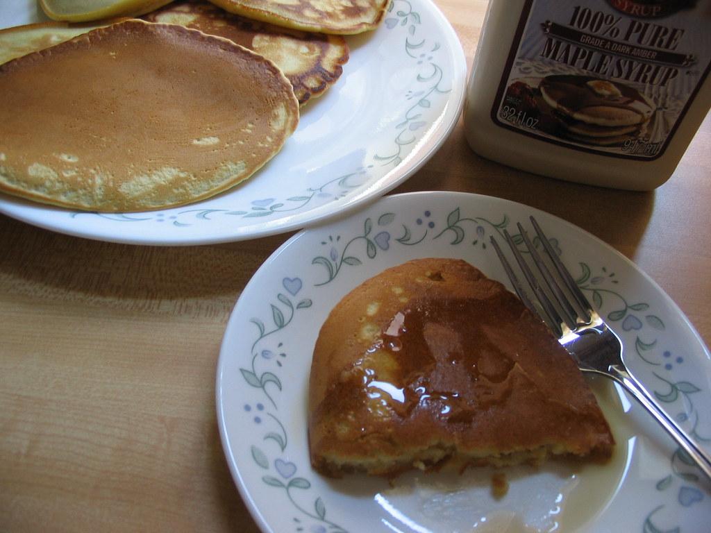 Homemade Pancakes with Almond Milk