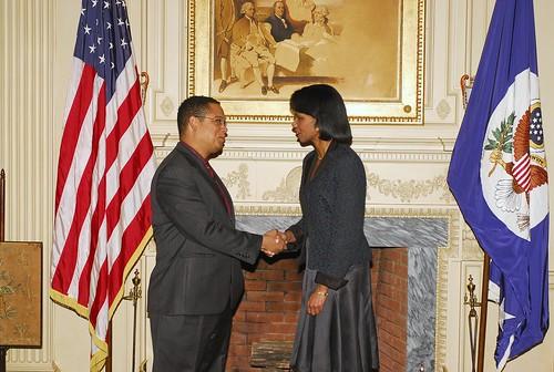 Congressman Ellison meets with Secretary of State Condoleeza Rice
