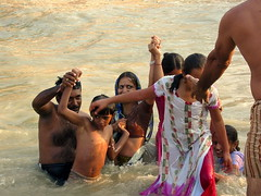 Rescue Mission or Fun for the Family..!! (Saurabh Makkar) Tags: family people rescue india heritage river fun religious eyes places holy topless uttaranchal bathing having hindu ganga ganges haridwar saurabh mythological peoplehavingfun makkar harkipowri saurabhmakkar hindufamily