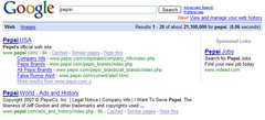 Pepsi in the SERPs