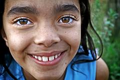 I can see it... (carf) Tags: girls brazil girl smile brasil kids reflections children happy hope kid eyes education support child risk forsakenpeople esperana social altruism change shanty educational hummingbirds favela development p