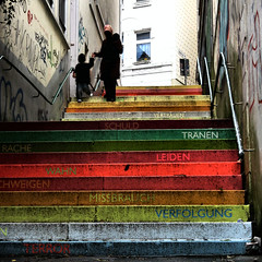 SCALA (Frizztext) Tags: life streetart art canon germany square rainbow existentialism streetphotography 2006 galleries scala wuppertal photooftheday 100faves instantfave 200faves 20061023 powershota700 frizztext holsteinertreppe irresistiblebeauty superhearts gathe flickrphotoaward flickrelite colourartaward top20germany 21jul2007 world100f horstglsker 240x240 winner500 winner500x500bestof