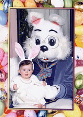 Bailey with the Easter Bunny (maxbateman) Tags: bunny easter bailey easterbunny