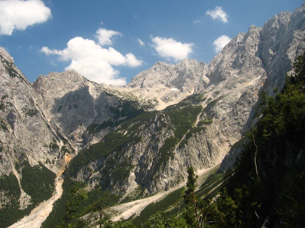 A hegyek a Kamniki-Alpokban