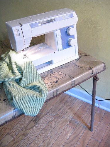 Recycled sewing table