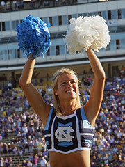 UNC Cheerleaders '07 (Gallery 2 Images) Tags: woman beautiful smile face canon football nc pretty cheerleaders spirit stadium gorgeous expressions northcarolina blonde carolina heels cheer cheerleader chapelhill unc 2007 tarheels carolinablue