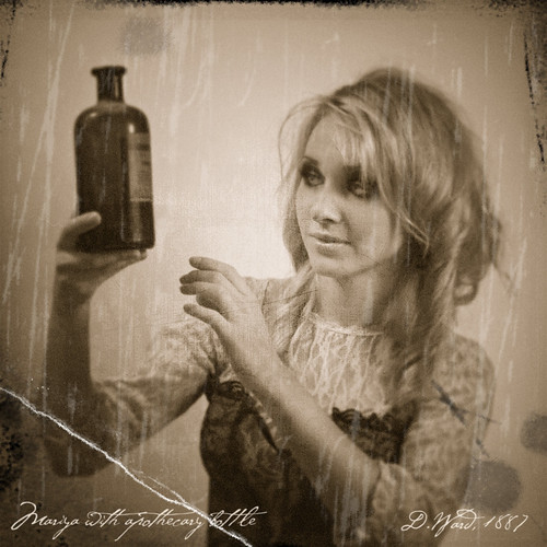 Mariya with apothecary bottle (D. Ward 1887)