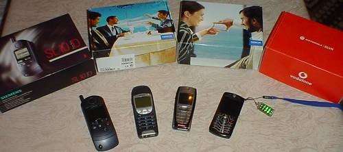 Meine 4 Mobiltelefone im Wandel der Zeit