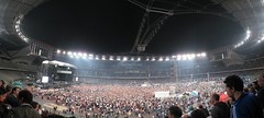 The Police (xNstAbLe) Tags: people italy panorama reunion torino concert stadium sting gig wide police concerto turin hugin stadiodellealpi lastfm:event=206970