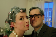 We are old (mrlerone) Tags: old party hair grey curlers cosutme