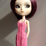 Pretty Pink Pullip dress with lace pattern thumbnail