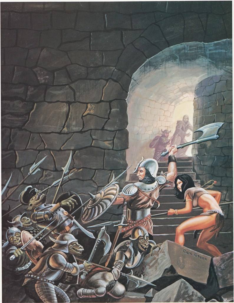 Down In The Dungeon - Don Greer, Rob Stern (Squadron-Signal_1981)-Man Orcs At Play