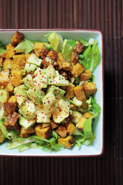 Avocado, Curry Smoked Tofu and Lettuce
