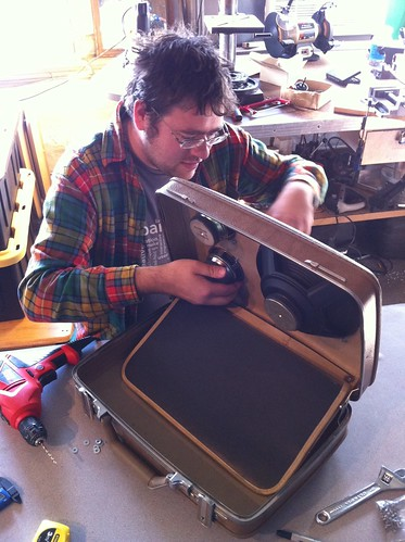 Chris building a BoomCase