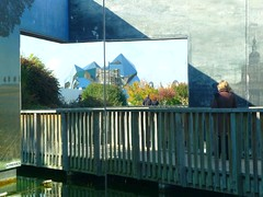 Filature (Atreides59) Tags: bridge woman water painting couple eau femme jardin pont tableau gardent