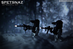 Spetnaz special op shooting (Shobrick) Tags: snow modern night forest reflex lego scope military knife ak camo special vision tiny op ba tt sight custom armory m4 weapons tactical amaing brickarms spetnaz shobrick